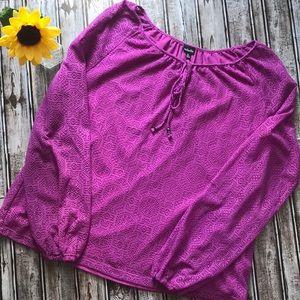 Rafaella magenta lace blouse